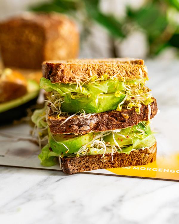 Protein Sandwich, Protein Rezept, Protein Brot